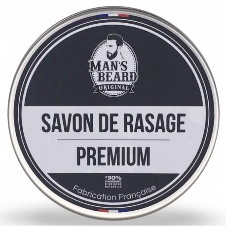 Savon de rasage Premium Bio - 200ml - Man's Beard