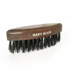 Brosse à barbe de voyage avec manche en bois - 8 x 2 cm - Man's Beard