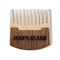 Peigne à barbe de poche en bois - 6 x 6 cm - Man's Beard