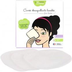 Carrés démaquillants lavables en coton biface Bio x 3 - Les tendances d'Emma