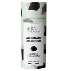 Déodorant charbon & eucalyptus 100% naturel - 65g - Les Petits Prödiges