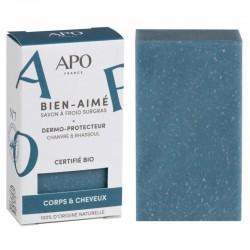 Savon à froid 2-en-1 surgras dermo-protecteur chanvre et rhassoul Bio - 100g - APO France