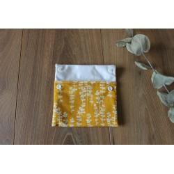 Pochette à savon en tissu imperméable Bio Oekotex moutarde