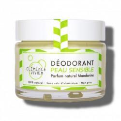 Baume déodorant peaux sensibles 100% naturel et bio Mandarine - 50g - Clémence & Vivien