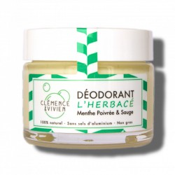 """Baume déodorant 100% naturel et bio """"L'Herbacé"""" - 50g - Clémence et Vivien"""