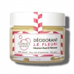 """Baume déodorant 100% naturel et bio """"Le Fleuri"""" - 50g - Clémence et Vivien"""