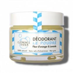 """Baume déodorant 100% naturel et bio """"Le Poudré"""" - 50g - Clémence et Vivien"""