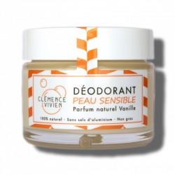 """Baume déodorant peaux sensibles 100% naturel et bio """"Le Vanille"""" - 50g - Clémence & Vivien"""