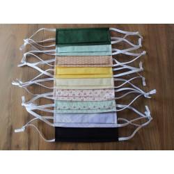 Masque barrière en coton bio lavable et réutilisable conforme aux recommandations AFNOR