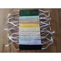 Masque barrière en coton bio lavable et réutilisable normes AFNOR