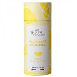 Déodorant citron & bergamote 100% naturel - 65g - Les Petits Prödiges