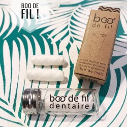 Fil dentaire 100% fibre végétale vegan rechargeable et compostable - My Boo Company