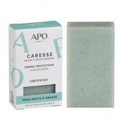 Savon dermo-protecteur Caresse peaux mixtes à grasses Bio - 100g - APO France