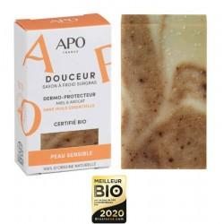 Savon dermo-protecteur Douceur peau sensible Bio - 100g - APO France