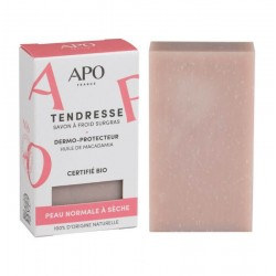 Savon dermo-protecteur Tendresse peau normale à sèche Bio - 100g - APO France