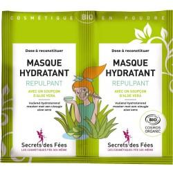Masque hydratant repulpant Bio - 2 sachets de 4.5g - Secrets des Fées