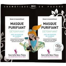 Masque purifiant détoxifiant Bio - 2 sachets de 6g - Secrets des Fées