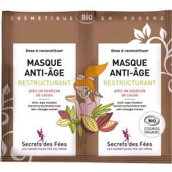 Masque anti-âge restructurant Bio - 2 sachets de 4.5g - Secrets des Fées