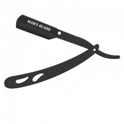 Shavette ProBarber en acier noir avec 5 lames - Man's Beard