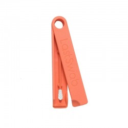 Coton-tige lavable et réutilisable en silicone écologique - Orange - LastSwab