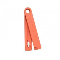 Coton-tige maquillage lavable et réutilisable en silicone écologique - Orange