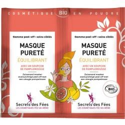 Masque pureté équilibrant Bio - 2 sachets de 8g - Secrets des Fées