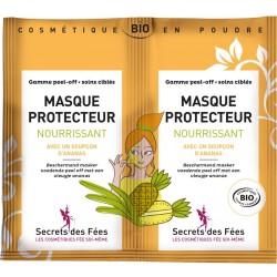 Masque protecteur nourrissant Bio - 2 sachets de 8g - Secret des Fées