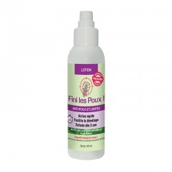 Lotion anti-poux et lentes 100% d'origine naturelle - 125ml