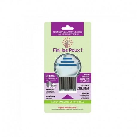 Peigne anti-poux et lentes 100% acier inoxydable - Fini les Poux